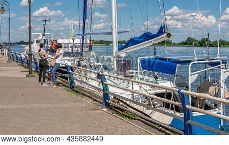 Dniester River Embankment In Kherson, Ukraine