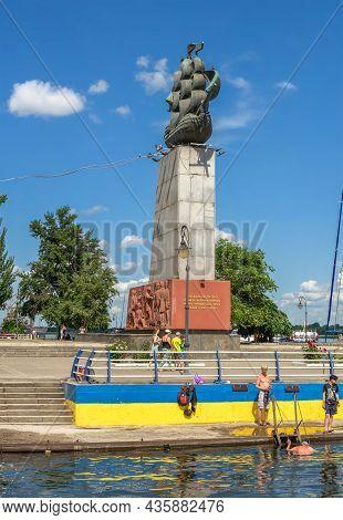 Monument To The First Shipbuilders In Kherson, Ukraine