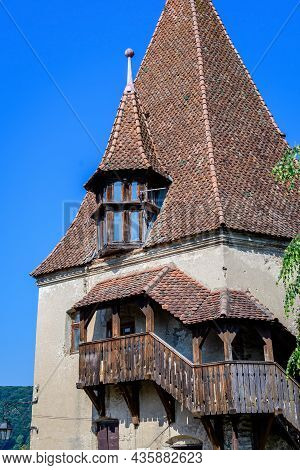 The Shoemakers' Tower (turnul Cizmarilor) In The Medieval Citadel In The Old Center Of Sighisoara, A