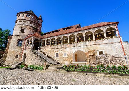Old Building In The Renovation Process At Cris Bethlen Castle In Mures County, In Transylvania (tran