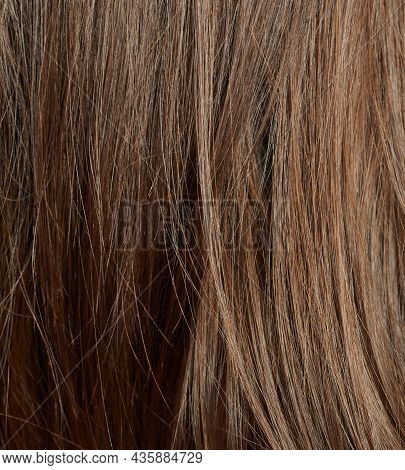 Light Brown Hair Background. Shiny Healthy Hair