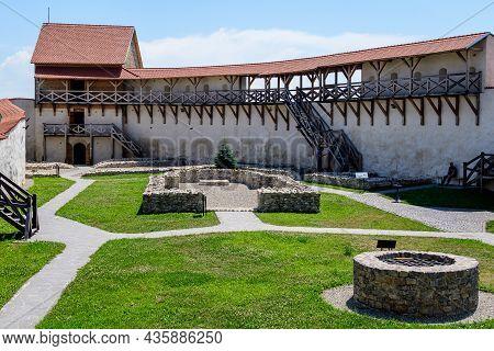 Feldioara - Marienburg Medieval Fortress (cetatea Feldioara) After Renovation In Brasov County, In T