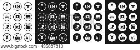 Set Waist Bag Of Banana, Photo, Gamepad, Lollipop, Old Video Cassette Player, 80s Retro, Telephone H