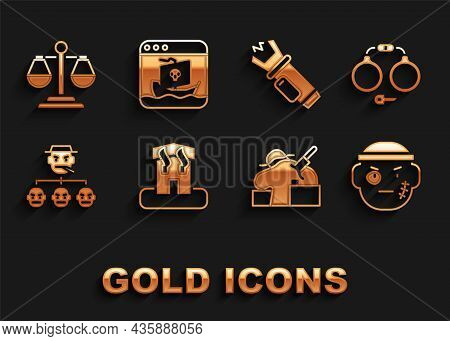 Set Arson Home, Handcuffs, Bandit, Murder, Mafia, Police Electric Shocker, Scales Of Justice And Int