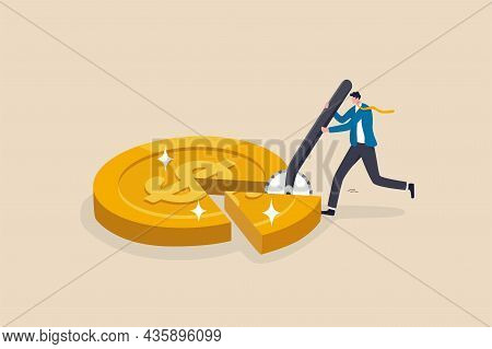 Money Management, Financial Planning Or Wealth Management Or Investment Portfolio, Paying For Tax, L