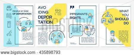 Danger Of Deportation Brochure Template. Avoid Departure. Flyer, Booklet, Leaflet Print, Cover Desig