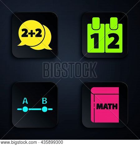 Set Book With Word Mathematics, Equation Solution, Graph, Schedule, Chart, Diagram And Calendar. Bla