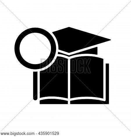 Academic Research Talent Black Glyph Icon. Study And Investigation. Cognitive Skill. Data Collection