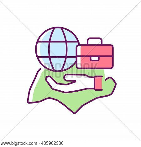 Flexible Labor Law Rgb Color Icon. Singapore Employment Act. Flexible Work Arrangements. Working Con
