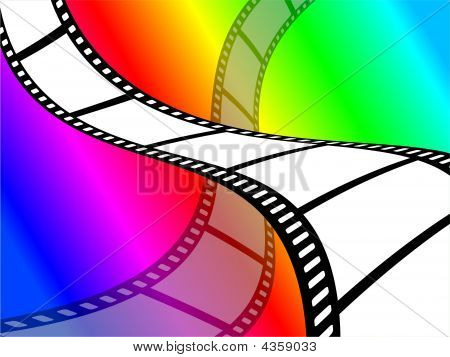 Bright and colourful color film abstract wallpaper background design. poster