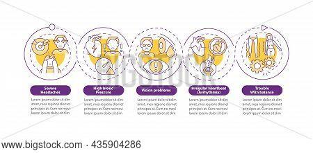 Hypertension Symptoms Vector Infographic Template. Severe Headaches Presentation Outline Design Elem