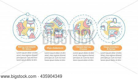 Hypertension Causes Vector Infographic Template. High Cholesterol Presentation Outline Design Elemen
