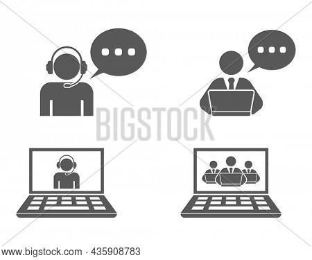helpdesk support operator icon isolated on white backgground