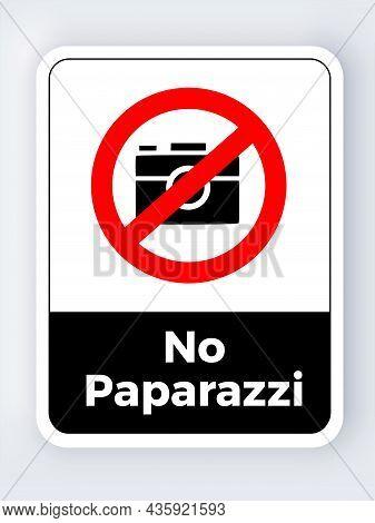 No Photos Paparazzi Sign Icon Symbol Pictogram