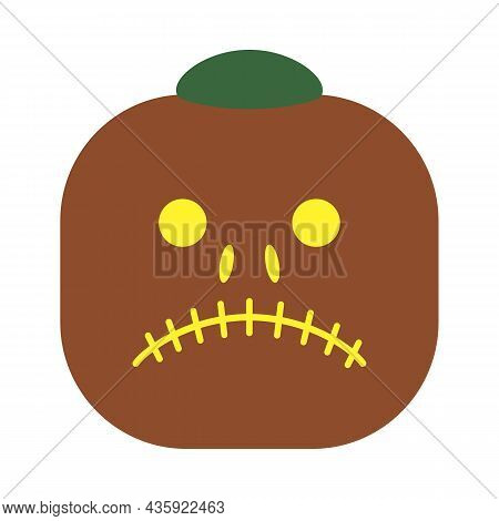 Pumpkin For Halloween Or Thanksgiving Drives Away Evil Spirits And Other Evil Spirits. Hollow Squash