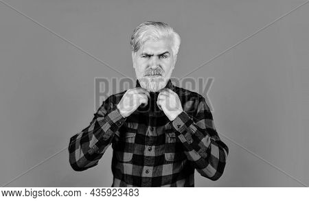 Serious Male Blonde Hair. Man Casual Fashion Style. Look Like Farmer. Barber Master With Moustache.