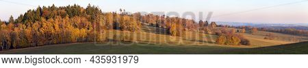 Autumn Scenery From Bohemian And Moravian Highland Panoramic View - Czech Republic - Europe