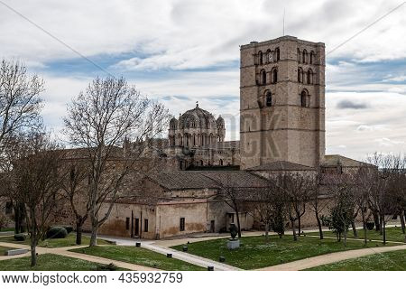 Zamora Romanesque Cathedral And Bell Towers. Spain