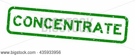 Grunge Green Concentrate Word Square Rubber Seal Stamp On White Background