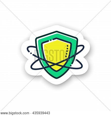 Innate Immunity Sticker Icon. Immune System Concept. Immunology Badge For Designs. Body Defence Syst