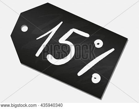 Black Sale Shop Product Tag, Label Or Sale Poster, Chalk Blackboard Discount Banner