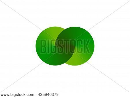 Ecology Sphere Logo Formed By Twisted Green Circles. Vector Design Template Elements For Vegan, Bio,