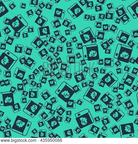Black Law Book Icon Isolated Seamless Pattern On Green Background. Legal Judge Book. Judgment Concep