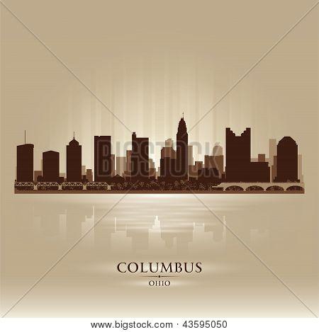 Columbus Ohio City Skyline Silhouette