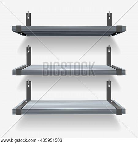 Modern Interior 3d Shelves. Creative Home Blank Shelf, Empty Wooden Wall Racks, Wood Racking Space B