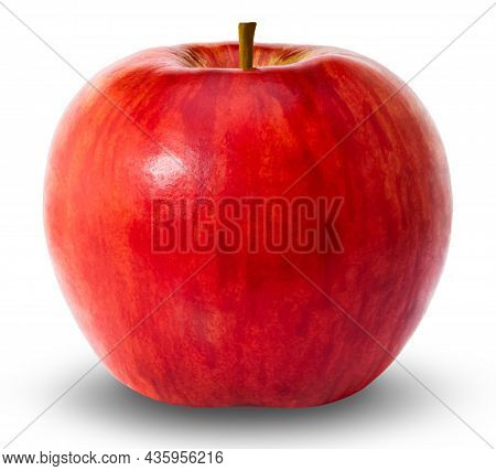 Red Apple Isolated On White Background. Clipping Path.