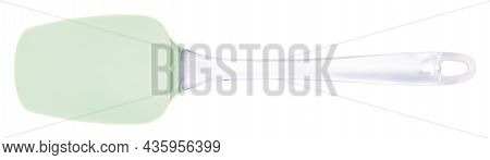 Silicone Kitchen Spatula Isolated On White Background. Clipping Path