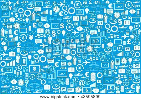 Business And Finance Symbols Background