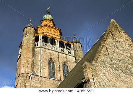 View on the Jerusalem Church in Bruges Belgium poster