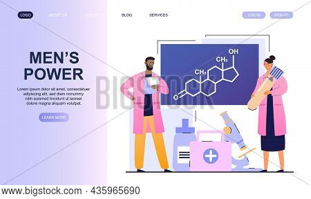 Men Health, Medications. Testosterone Therapy Landing Page Template. Chemical Experiments In Laborat