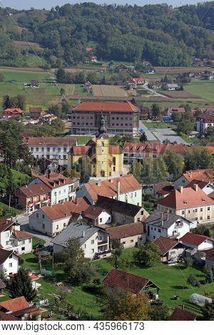 ZLATAR, CROATIA - JUNE 19, 2011: Church of the Assumption of the Virgin Mary in Zlatar, Croatia