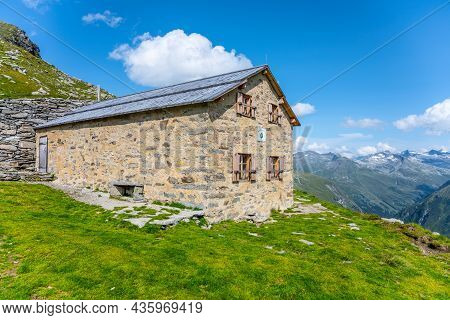 Old Prague Hut, German: Alte Prager Hutte. Small Stone Tourist House Southeast Of Grossvenediger, Ho