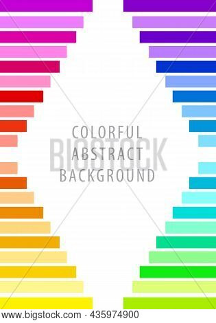 Colorful Abstract Background Pattern. Horizontal Square Bars Rainbow Gradient. Template Design For P