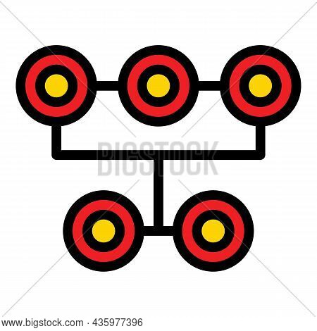 Car Tire Fitting Icon. Outline Car Tire Fitting Vector Icon Color Flat Isolated