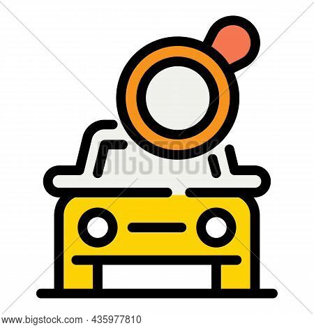 Fix Car Repair Icon. Outline Fix Car Repair Vector Icon Color Flat Isolated