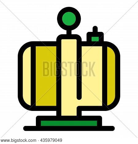 Garage Air Compressor Icon. Outline Garage Air Compressor Vector Icon Color Flat Isolated