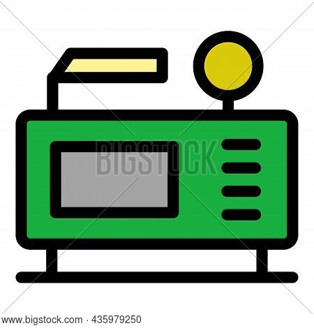 Digital Air Compressor Icon. Outline Digital Air Compressor Vector Icon Color Flat Isolated