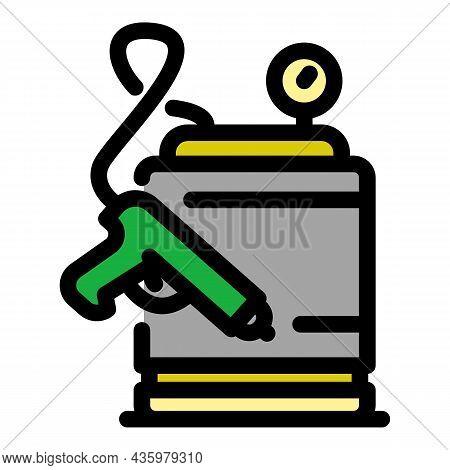 High Pressure Compressor Icon. Outline High Pressure Compressor Vector Icon Color Flat Isolated