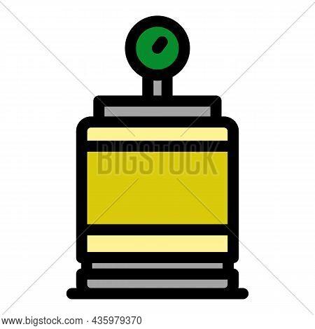 Air Compressor Barrel Icon. Outline Air Compressor Barrel Vector Icon Color Flat Isolated