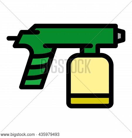 Gun Paint Pistol Icon. Outline Gun Paint Pistol Vector Icon Color Flat Isolated