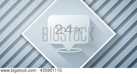 Paper Cut Gold Bars 24k Icon Isolated On Grey Background. Banking Business Concept. Paper Art Style.