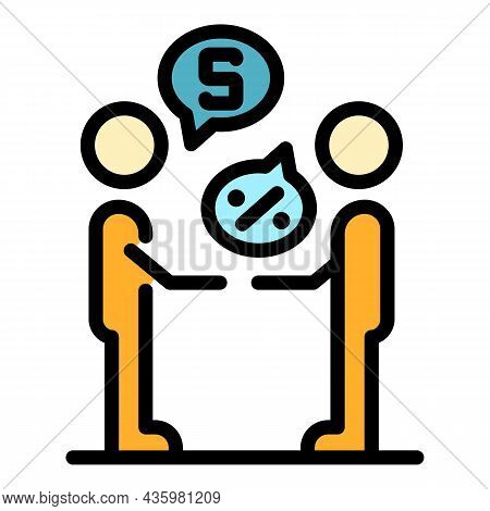 Procurement Manager Icon. Outline Procurement Manager Vector Icon Color Flat Isolated