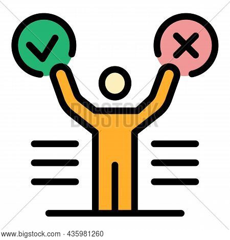 Manager Supply Icon. Outline Manager Supply Vector Icon Color Flat Isolated