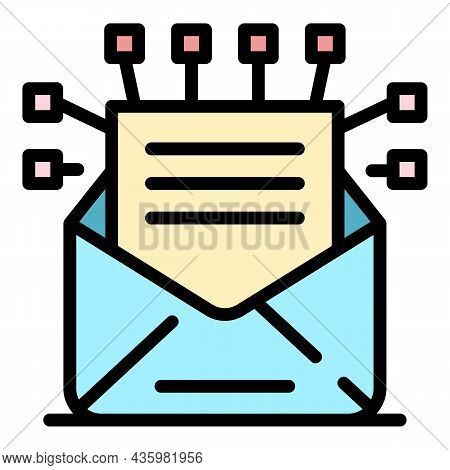 Email Offer Icon. Outline Email Offer Vector Icon Color Flat Isolated