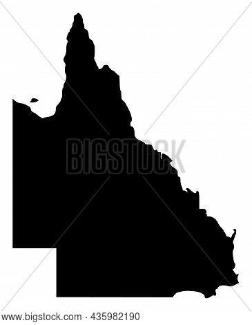 Vector Queensland - Australia Map Illustration. An Isolated Illustration Of Queensland - Australia M