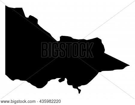 Vector Victoria - Australia Map Illustration. An Isolated Illustration Of Victoria - Australia Map.